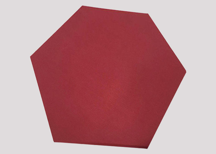 Hexagon fabric acoustic panel